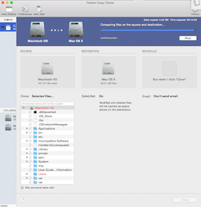 Mac OS X - Carbon Copy Cloner