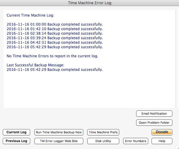 Error Log: MacOS New Release – TM Error Logger 4