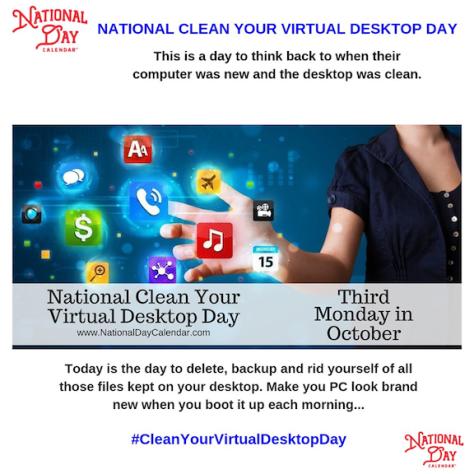 clean desktop NationalDayCal