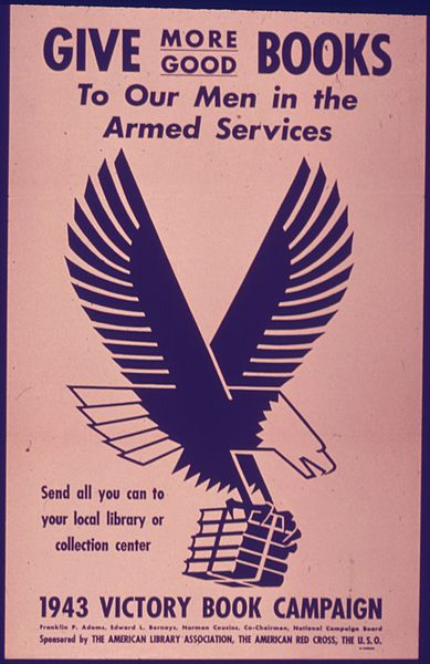 389px-Give_More_Good_Books_to_our_Men_in_the_Service_-_NARA_-_514386